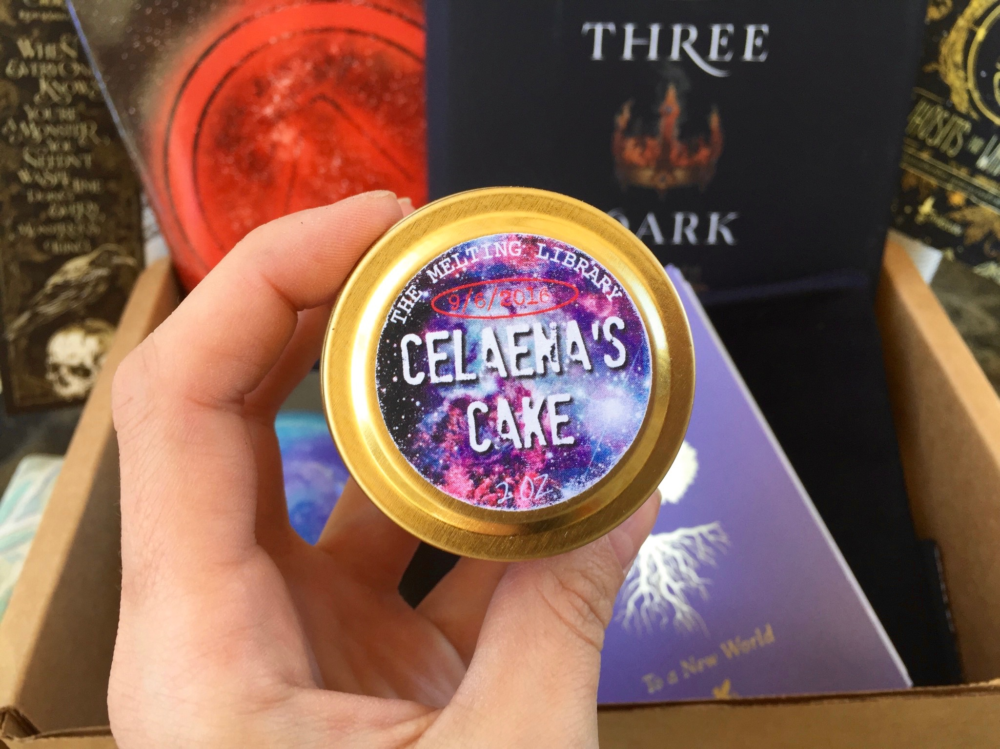 Celaena's Cake by The Melting Library - September Owlcrate