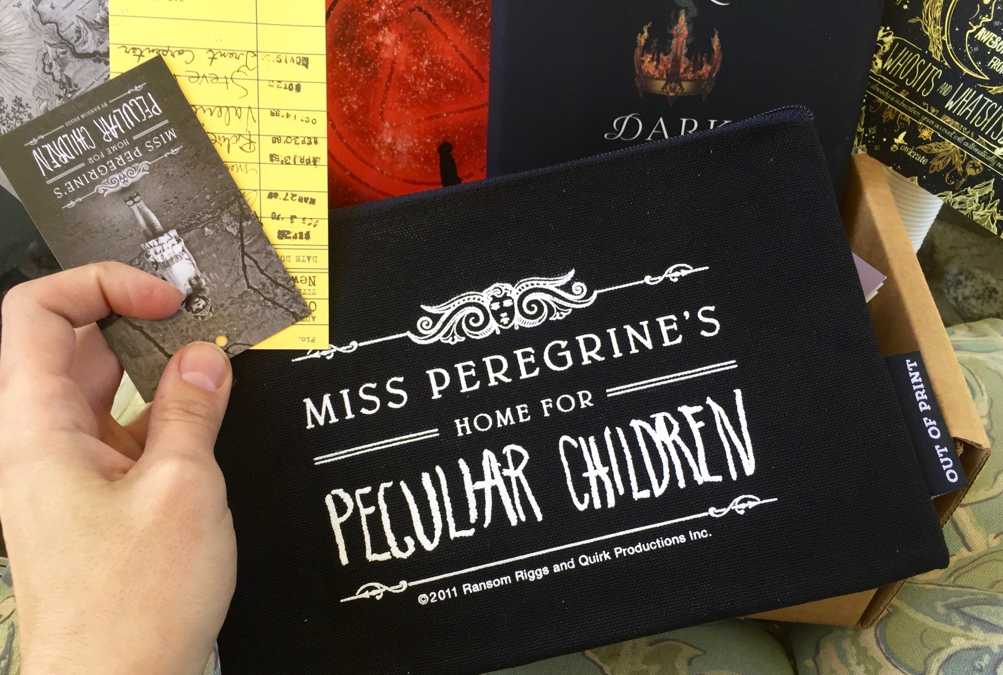 Miss Peregrine's Home for Peculiar Children pouch - September Owlcrate